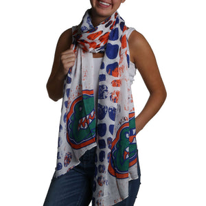 Florida Gators Animal Print Scarf