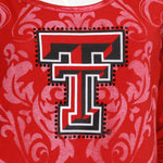 Load image into Gallery viewer, Texas Tech Red Raiders Long Sleeve Satin Trim Tunic