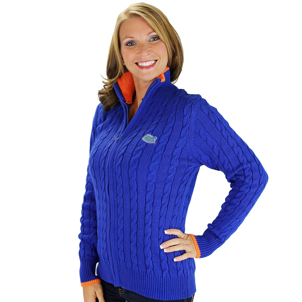 Florida Gators Zip Cable Cardigan