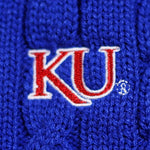 Load image into Gallery viewer, Kansas Jayhawks Zip Cable Cardigan