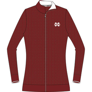Mississippi State  Bulldogs Zip Cable Cardigan