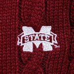Load image into Gallery viewer, Mississippi State  Bulldogs Zip Cable Cardigan
