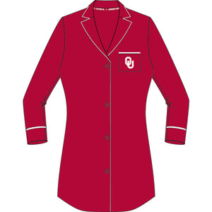 Oklahoma Sooners Button Down Nightshirt