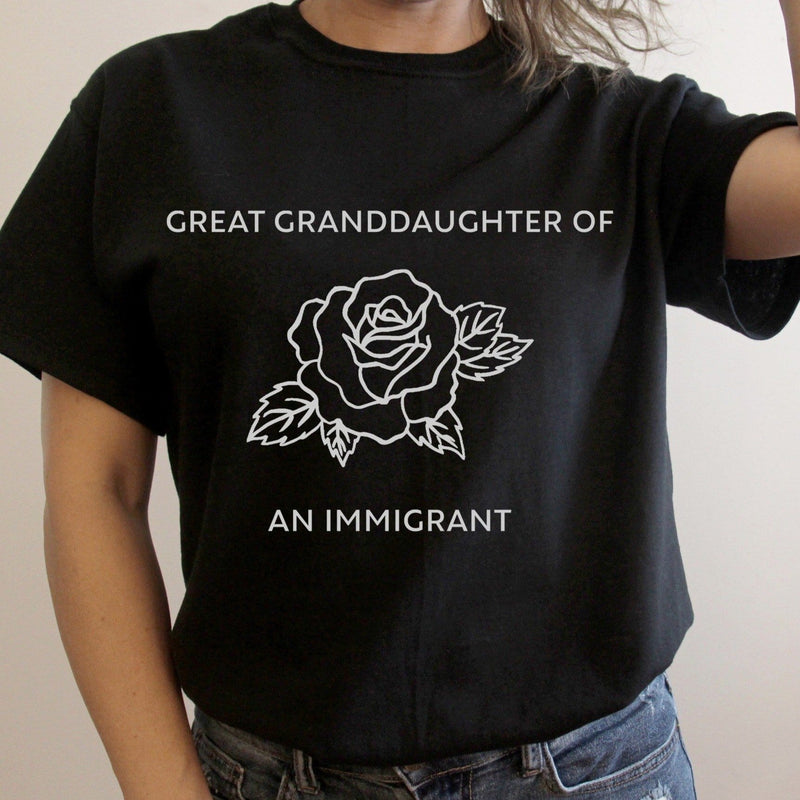 Great granddaughter of an immigrant