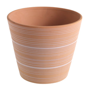 "Striped Pot || 6.5"" x 6.5"" x 5.5"""