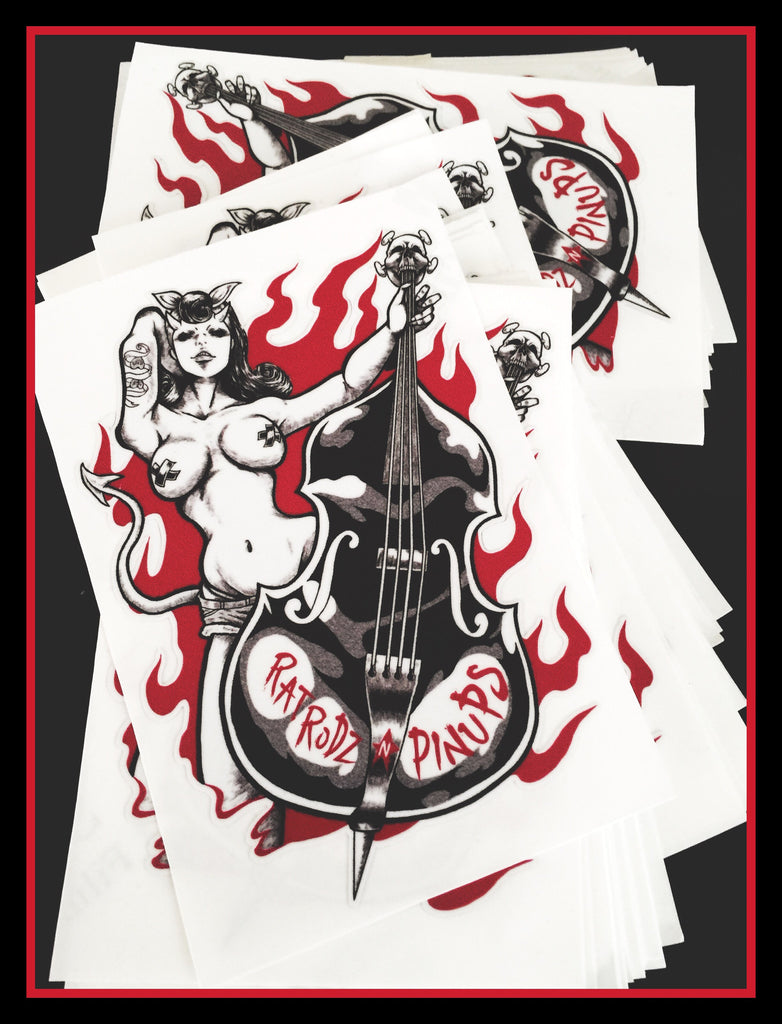 Devilish Upright Bass Decal
