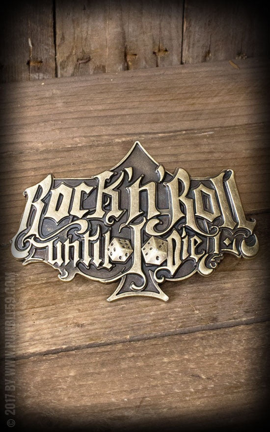 Rumble59 - Rock and Roll Until I Die Belt Buckle