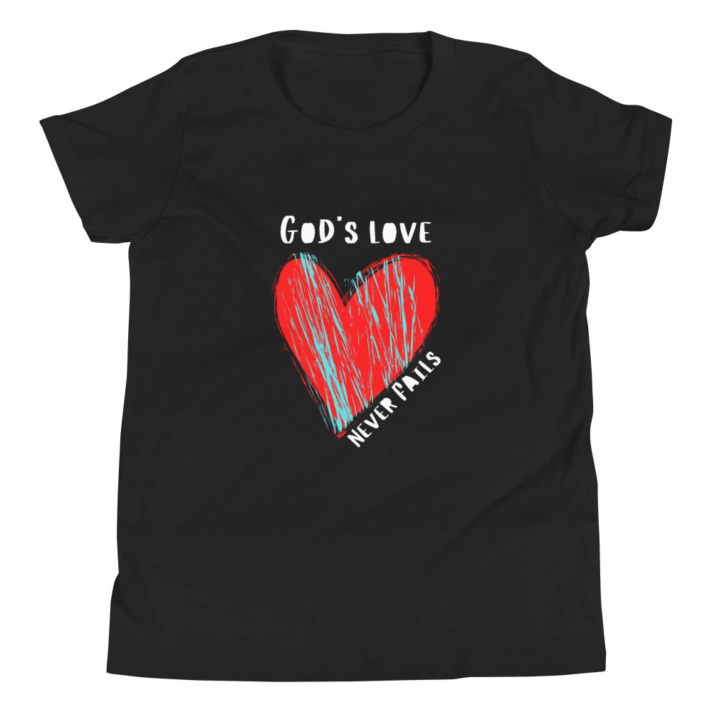 God's Love Never Fails Tee (Youth)