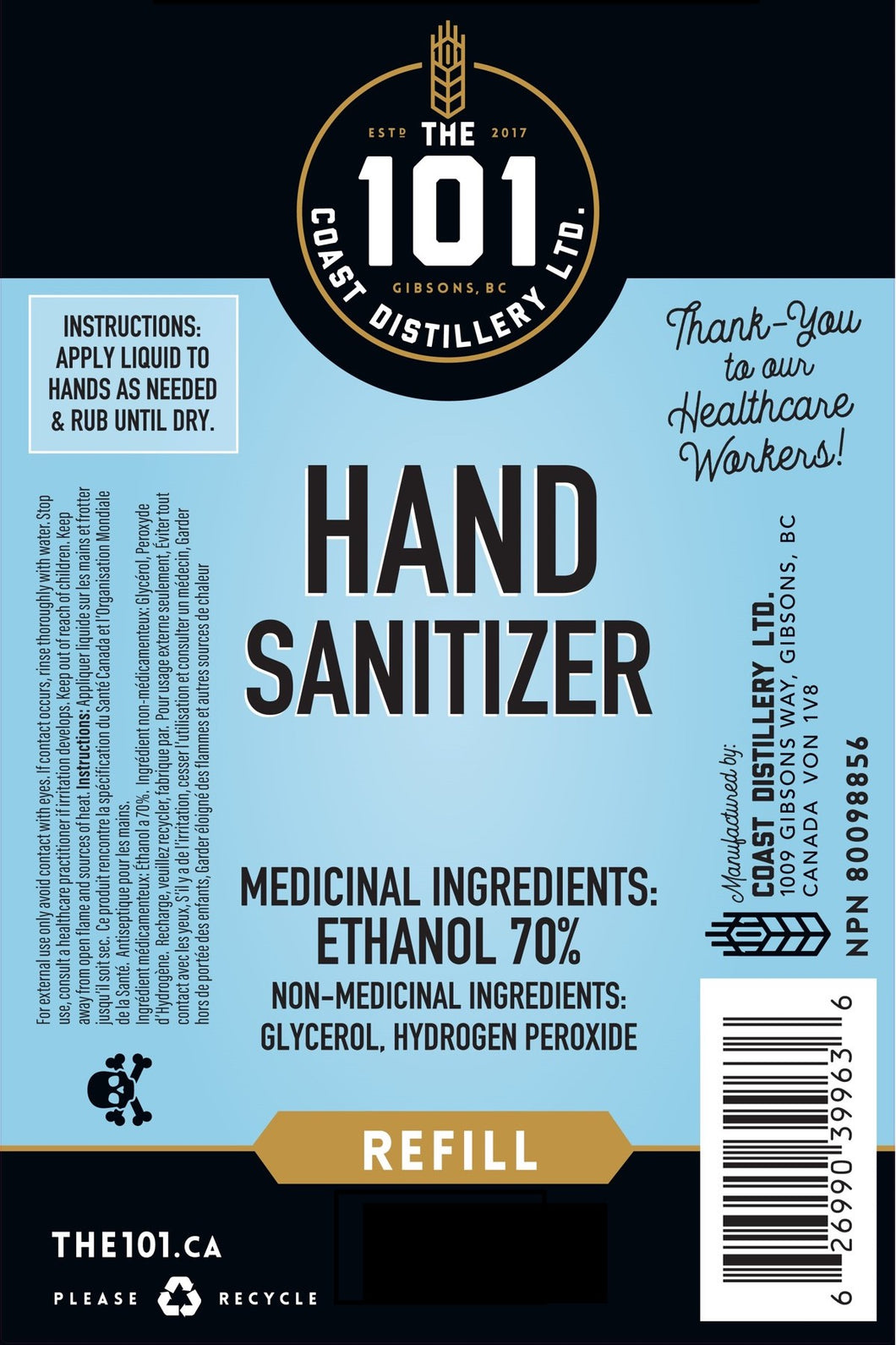 HELPING HANDS - 500 ml Hand Sanitizer for Donation