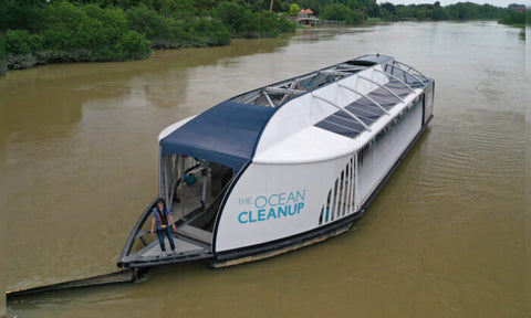 Man Creates Solar-Powered Barge That Picks Up Plastic Before It Even Reaches the Oceans