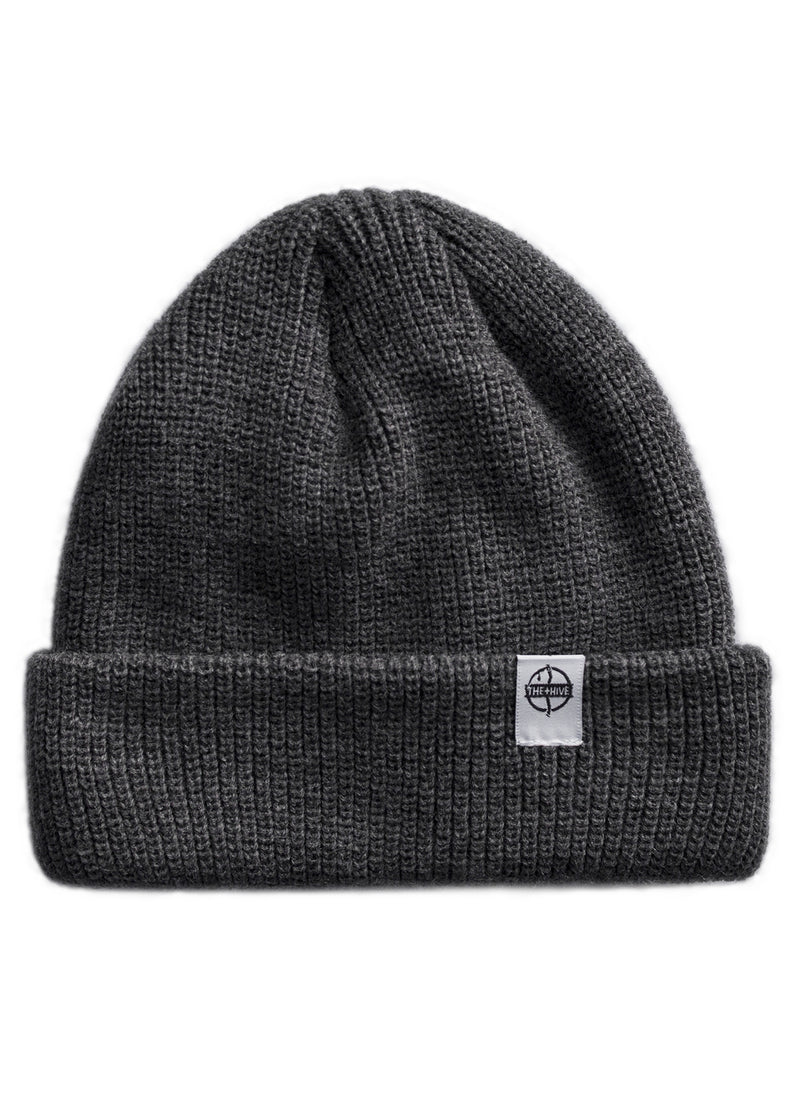 FISHERMAN BEANIE IN DARK GREY