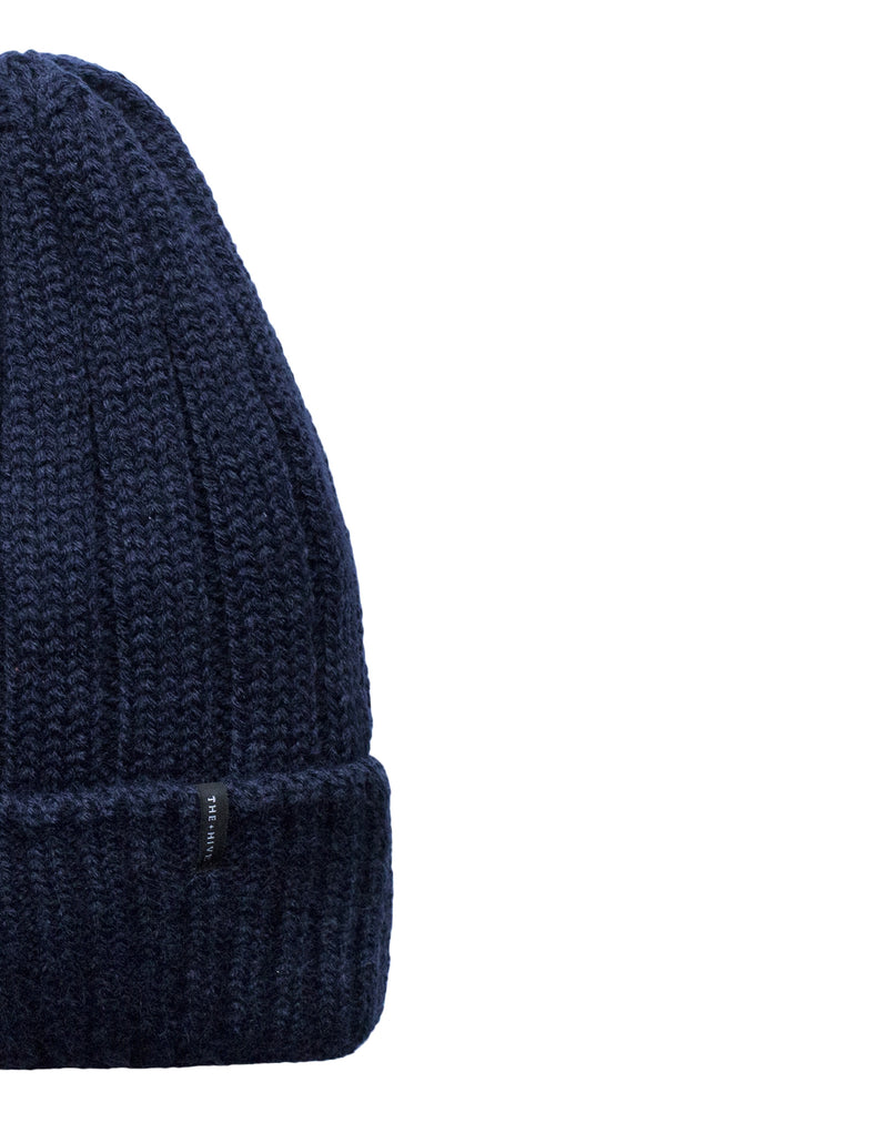 IRON BEANIE MINI LOGO IN NAVY