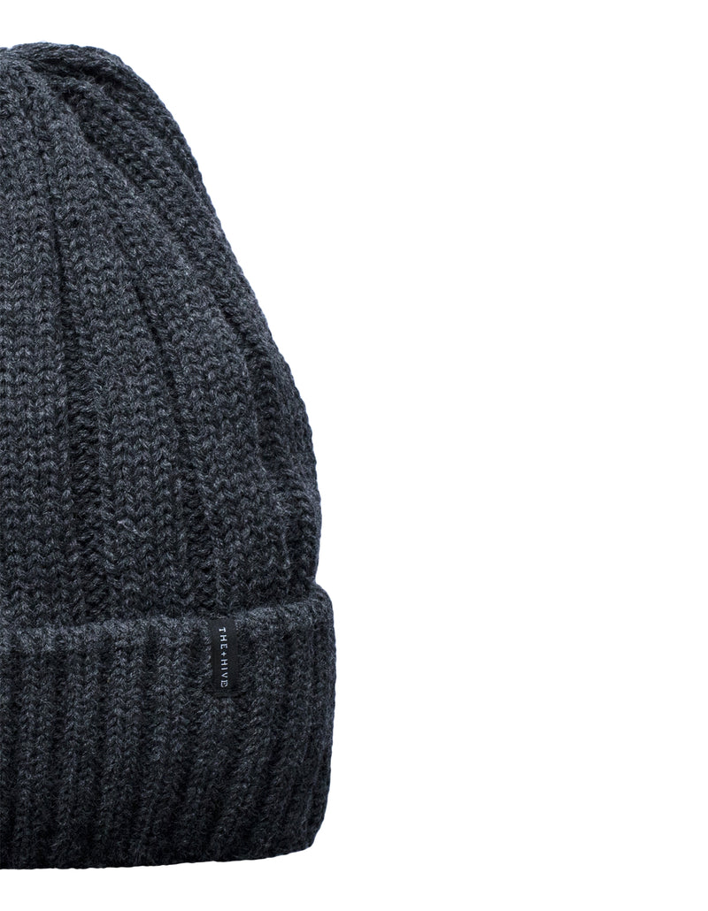 IRON BEANIE MINI LOGO IN DARK GRAY