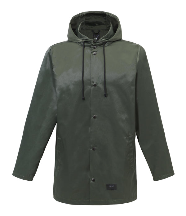 RAIN JACKET IN DARK OLIVE