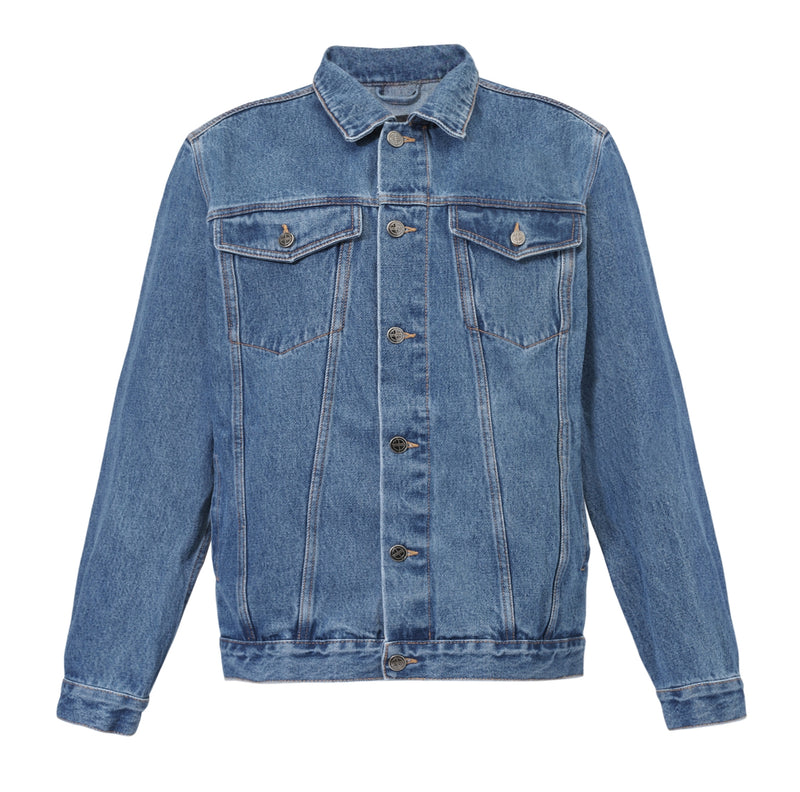 STONE WASHED DENIM TRUCKER JACKET