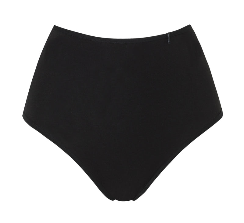 HIGH-WAIST MODAL PANTIES IN BLACK