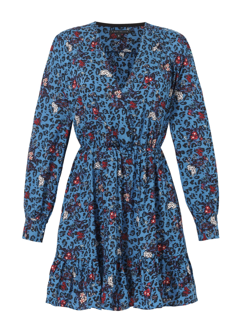 DORIS DRESS IN BLUE