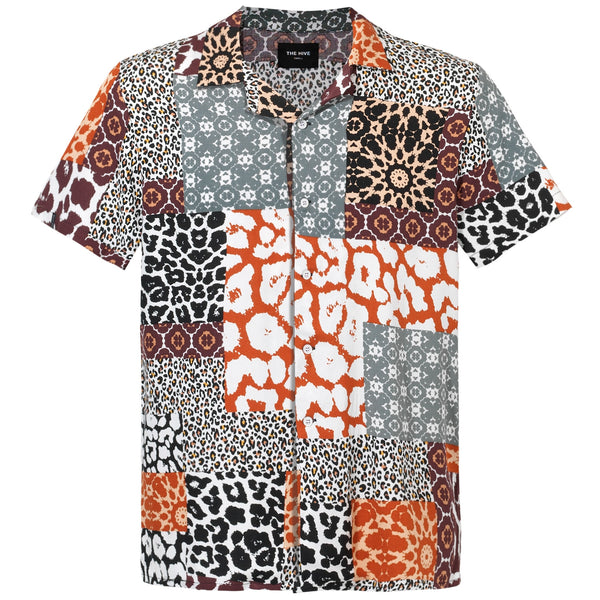 PATCHWORK LEOPARD SHIRT LIMITED