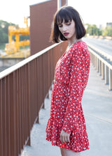 JANIS DRESS IN RED