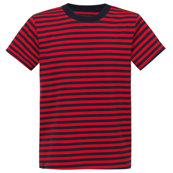 STRIPES TEE RED'n'NAVY