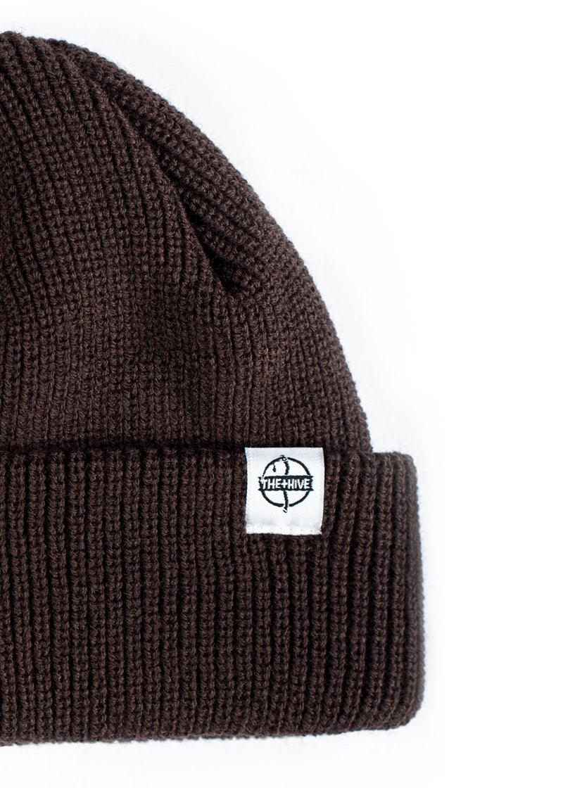 FISHERMAN BEANIE IN BROWN