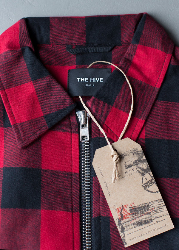 FLANNEL OVERSHIRT ZIP JACKET