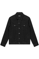DENIM TRUCKER JACKET IN BLACK