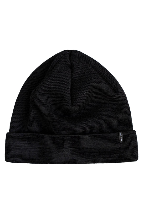 MERINO WOOL BEANIE IN BLACK