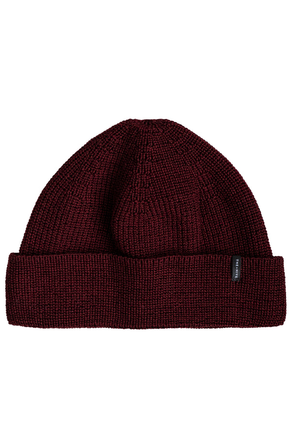 MERINO SINGLE BEANIE IN BURGUND