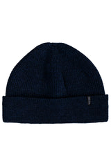 MERINO SINGLE BEANIE IN NAVY