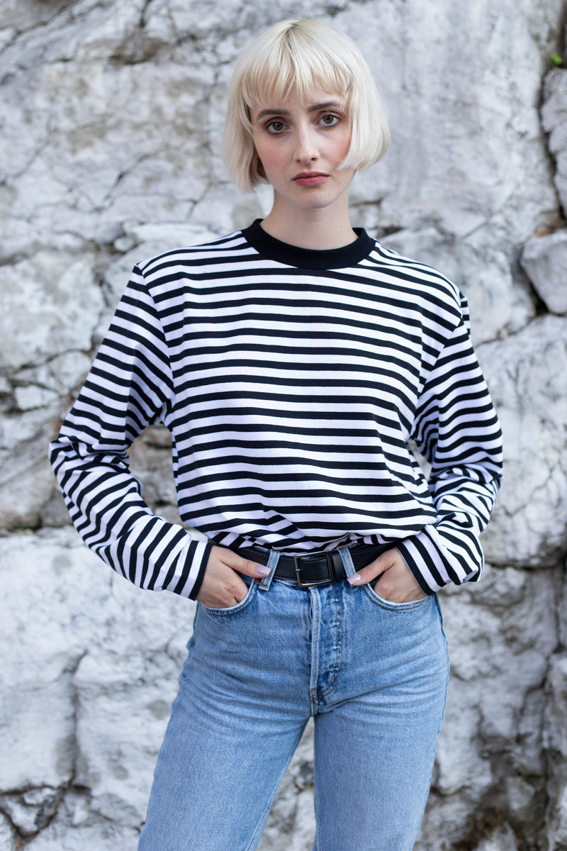 STRIPES LONGSLEEVE BLACK'n'WHITE