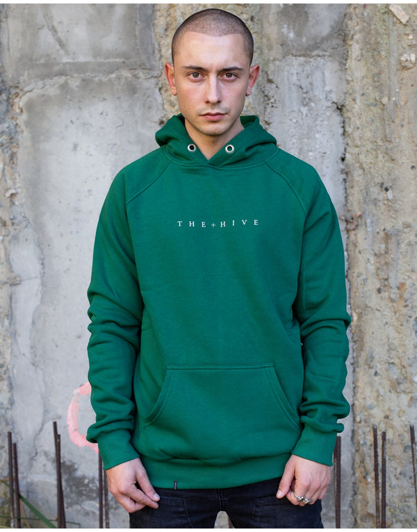 HIVE HOODIE IN BOTTLE GREEN