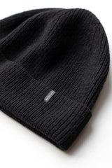 ECOWINTER CASHMERE BEANIE IN BLACK
