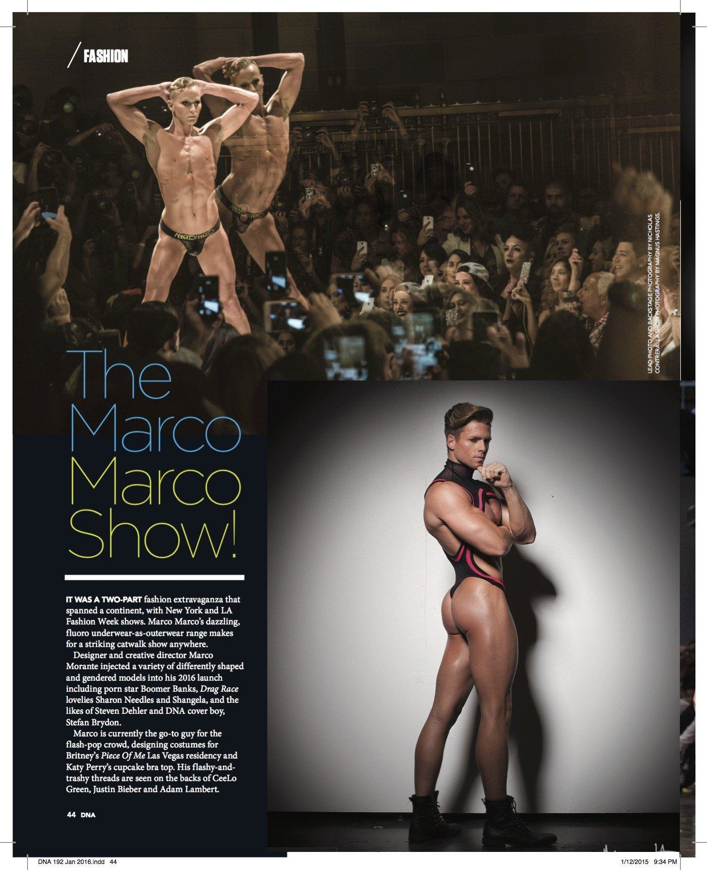 Marco Marco Editorial in DNA Magazine