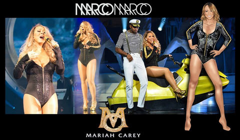 Mariah Carey giving Vegas Glam in custom Marco Marco