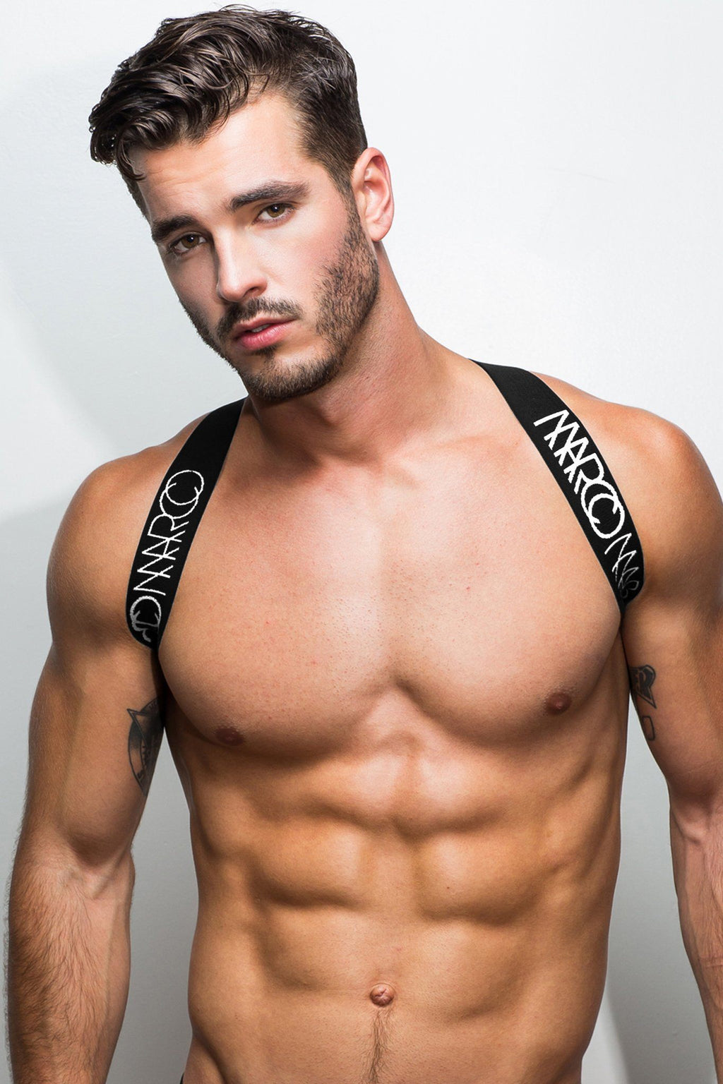 Elastic Harness by Marco Marco with Black and White Logo Elastic