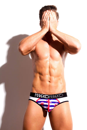 Designer Mens Underwear | Marco Marco | Nautical Half Moon Brief