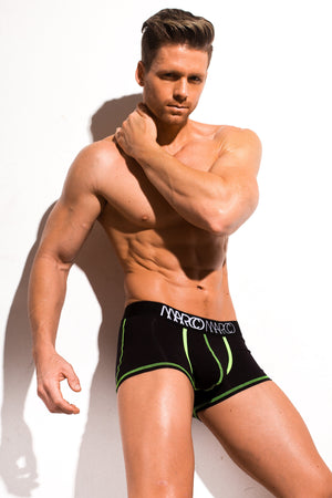 Designer Mens Underwear | Marco Marco | Neon Stitch Trunk Black