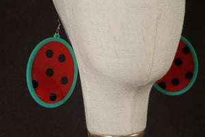 Sliced Acrylic Watermelon Earrings - Marco Marco