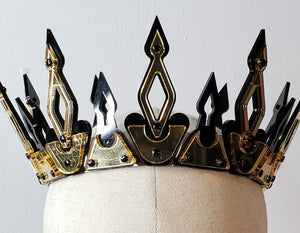 Modern Medieval Crown | Black & Gold - Marco Marco
