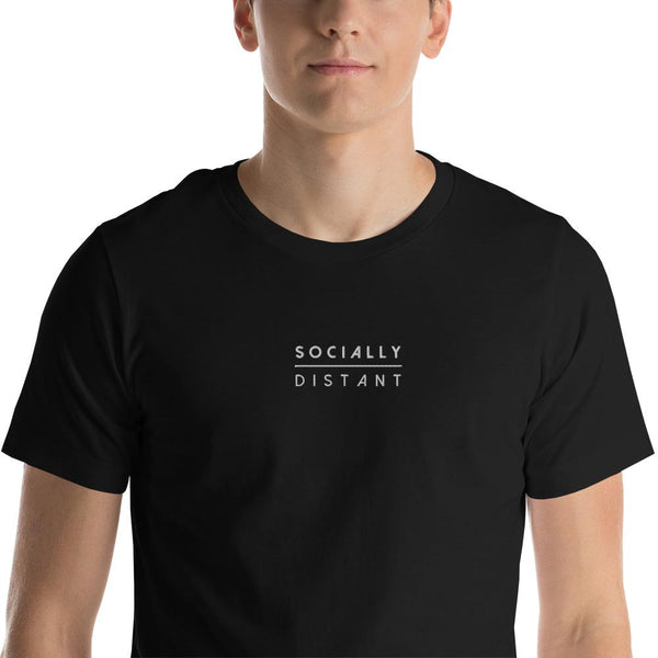 Socially Distant Embroidered Tee (Unisex) - Marco Marco