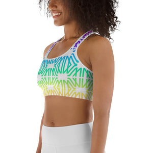 Rainbow Gradient Sports Bra - Marco Marco