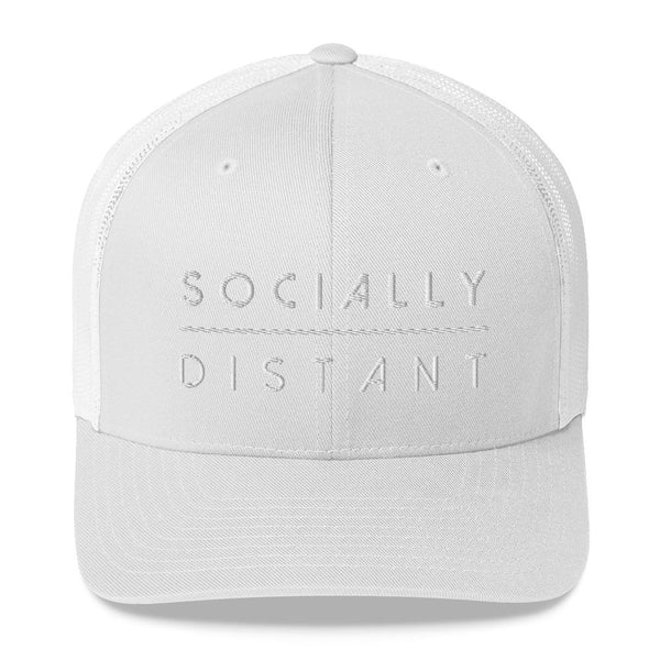Socially Distant Embroidered Trucker Cap - Marco Marco