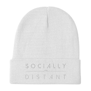 Designer Mens Underwear | Marco Marco | Socially Distant Beanie - White Embroidery