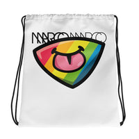 Rainbow Tongue Drawstring bag