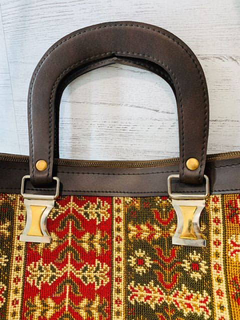 70s Tapestry Bag with Removable Strap - Hamlets Vintage