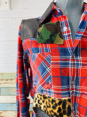 Neverabore - Re Design Flannel Shirt - Hamlets Vintage