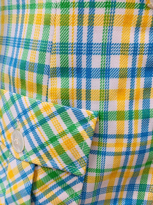 70s - Multicolor Square Print By The Villager | Blazer - Hamlets Vintage