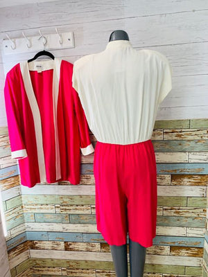 80's - Pant 2 Piece Set Rayon By B.G.D - Hamlets Vintage