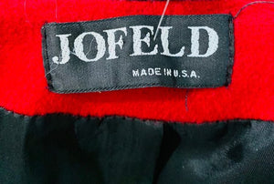 80's Double Breasted Wool Coat With Leather Details  By Jofeld